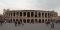 Verona amphitheater exterior italy view of the in Stock Photography