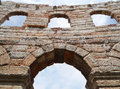 Verona arena italy ancient walls of the di is a roman amphitheatre in piazza bra in is a city Stock Photos