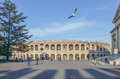 Verona arena italy the di is a roman amphitheatre in piazza bra in northern Royalty Free Stock Photography
