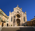 Verona cathedral veneto italy facade of the of santa maria matricolare Stock Photography