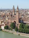 Verona city centre and river Stock Image
