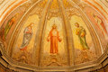 Verona fresco of resurrected jesus from main apse of church santa eufemia on january in italy Royalty Free Stock Photo