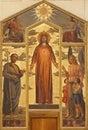 Verona - Heart of Christ painting in basilica San Zeno Stock Photography