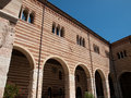 Verona italy courtyard of the palazzo della ragione in Royalty Free Stock Photo