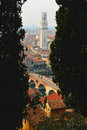 Verona italy panoramic view from the hill Stock Images