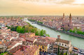 Verona italy panoramic view from the hills Stock Photo