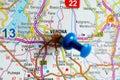 Verona on map