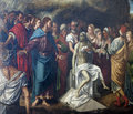 Verona - Resurrection of Lazarus in San Bernardino church Stock Images