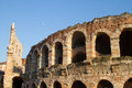 Verona roman arena with clear blue sky Stock Photography