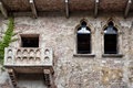 Verona romeo and juliet balcony of photo taken on august Stock Image