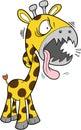 Verrückte Safari-Giraffe Stockfotos