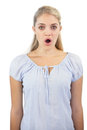 image photo : Surprised blonde woman