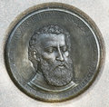 The verrazano medallion giovanni da was a florentine explorer of north america in service of king francis i of Stock Photo