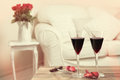 Verres de vin rouge Photo libre de droits