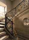 Versailles, France - 10 August 2014 : Marble staircase at Versailles Palace ( Chateau de Versailles ) Royalty Free Stock Photo