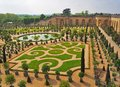 VERSAILLES, PARIS, FRANCE - MAY 2017: Famous gardens of the Royal Palace of Versailles Royalty Free Stock Photo