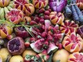 Versatile fruits and vegetables, fresh and ready to serve, vibrant colors,wide scene shot