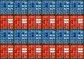 Verschepende Containers Stock Afbeeldingen