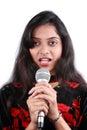 Versuchen zu singen Lizenzfreie Stockbilder