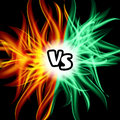 Versus Vector. VS Letters. Flame Fight Background Design. Competition Concept. Fight Symbol