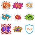 Versus or vs confrontation labels