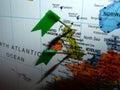 Verteilung englands schottland Lizenzfreies Stockbild