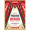Vertical art poster template in heavy power style. National patriotism freedom vertical banner. Graphic design layout. Music rock