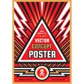 Vertical art poster template in heavy power style. National patriotism freedom vertical banner. Graphic design layout. Music