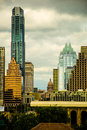 Vertical Austin Skyline Capitol Building of Texas Royalty Free Stock Photo