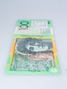 Vertical Australian Hundred Dollar Banknote Standing Up Royalty Free Stock Photo