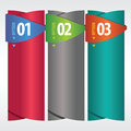 Vertical banner vector with number eps Stock Image