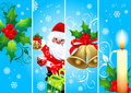 Vertical Christmas blue  banners Royalty Free Stock Image