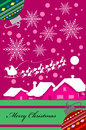 Vertical christmas card design in purple tones vector illustration no gradients were used very easy to edit Stock Photography