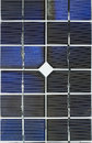 Vertical close up of a solar cell Royalty Free Stock Photos
