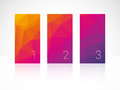 Vertical color bars with numbers modern style Royalty Free Stock Photography
