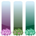 Vertical floral banners set Royalty Free Stock Photo