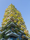 Vertical forest tower in milan italy residential designed by stefano boeri Royalty Free Stock Photos