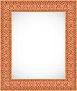 Vertical frame with an ornament - Ukrainian style Royalty Free Stock Image