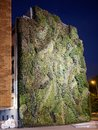 Vertical garden on facade of a building in Madrid Spain at night Royalty Free Stock Photo