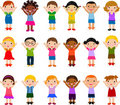 Vertical Group of Children Stock Photography