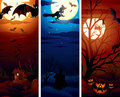 Vertical Halloween Illustrations Stock Image
