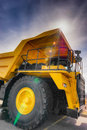 Vertical large haul truck Royalty Free Stock Photo