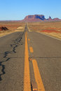Vertical Monument Valley road Royalty Free Stock Photo