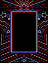 Vertical neon patriotic sign Royalty Free Stock Photo