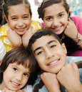 Vertical photo of children group, Stock Photos