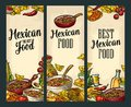 Vertical poster with Mexican traditional food and ingredient.