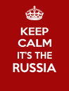 Vertical rectangular red-white motivation the russia poster based in vintage retro style
