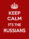 Vertical rectangular red-white motivation the russians poster based in vintage retro style