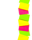 Vertical row of paper stickers Royalty Free Stock Photos