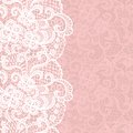 Vertical seamless background with a floral lace ornament Stock Photography